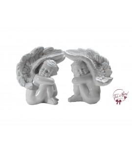 Angels: White Angels Hugging Legs Set of 2