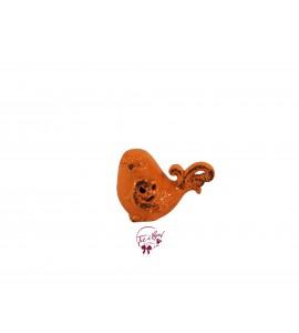 Bird: Orange Crackled Finish Bird