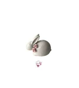 Bunny: Porcelain Bunny With Pink Flowers