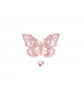 Butterfly: Baby Pink Butterfly Silhouette
