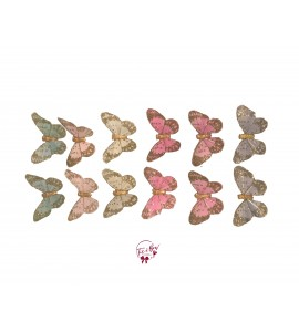Butterfly: Pastel Colors Butterfly Set of 12