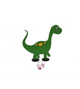 Dinosaur: Green Dinosaur in Silhouette