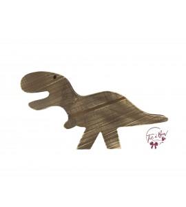 Dinosaur: Brown Distressed Dinosaur in Silhouette