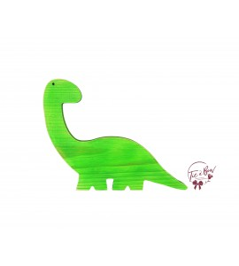 Dinosaur: Green Distressed Lime Green Dinosaur in Silhouette