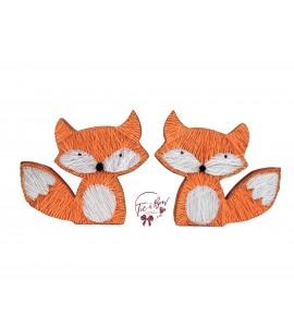 Fox: Orange Fox String Art Silhouette Set of 2