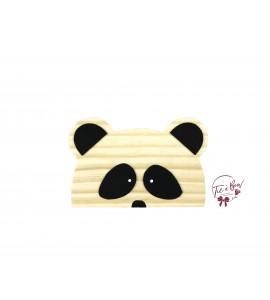 Panda: Wooden Panda Silhouette