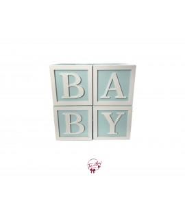 BABY Riser Light Blue Set of 4