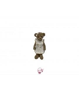 Bear Girl With White Dress