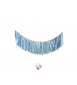 Fringe: White, Silver and Light Blue Ribbon Fringe