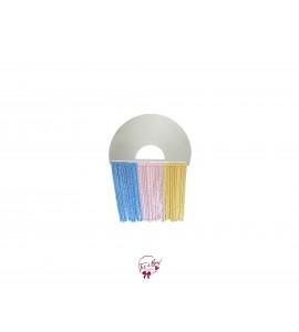 Rainbow Fringe Pastel Colors (Blue, Pink, Yellow)