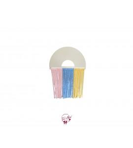 Rainbow Fringe Pastel Colors (Pink, Blue, Yellow)