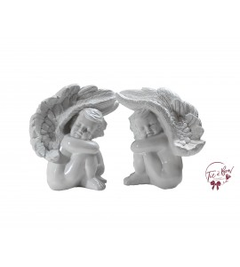 White Angels Hugging Legs Set of 2