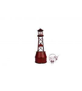 Lighthouse: Distressed Red