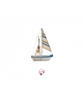 Sailboat (White and Blue)