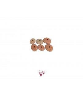 Shell: Orange Sea Urchin Shells Set of 6