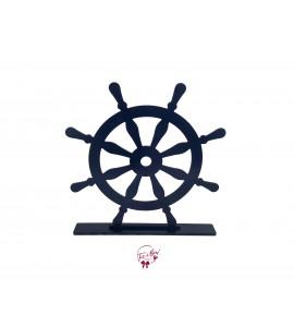Ship Steering Wheel Floor Prop