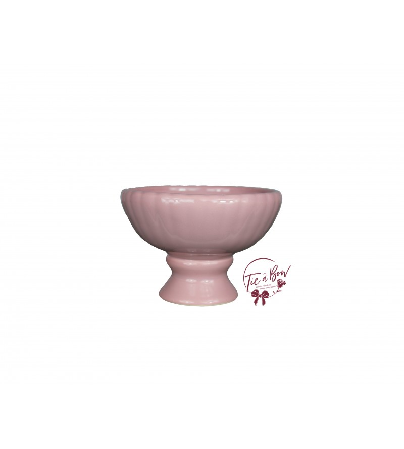 Pink: Rouge Pink Footed Bowl