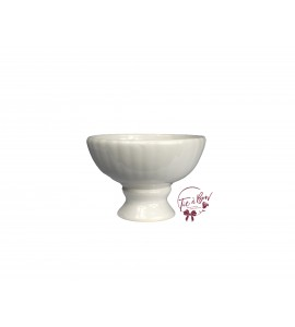 White: White Footed Bowl