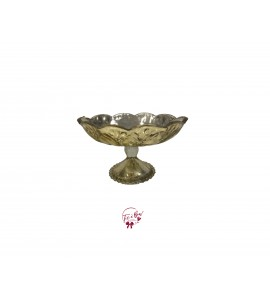 Gold Vintage Look Footed Bowl
