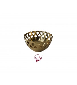 Gold: Golden Bowl With Heart Details