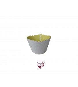 Bowl: Light Yellow Ice Cream Waffle Bowl
