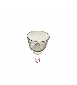 Clear: Large Glass Footed Bowl