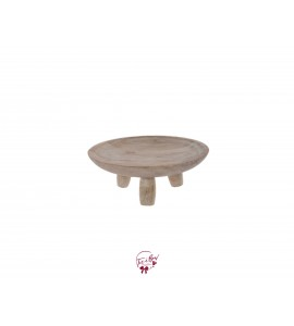 Wood (Light Wood) Footed Bowl