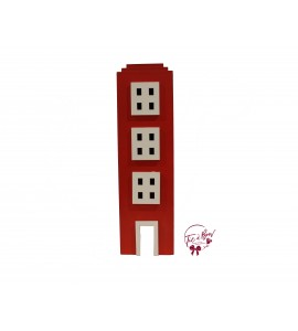 Building: 17.75 Inches Tall Red Building