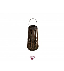 Lantern: Brown Bamboo Lantern