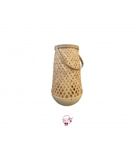 Lantern: Rattan with LED Candle Lantern