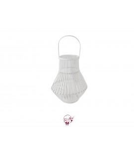 Lantern: White Pear Shaped Bamboo Lantern
