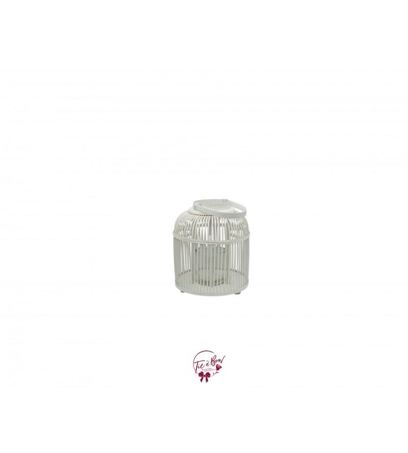 Lantern: White Round Bamboo Lantern