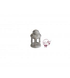 Lantern: Mini Beige Rustic Lantern