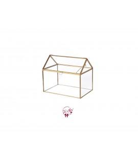 Terrarium: House Shaped Golden Terrarium
