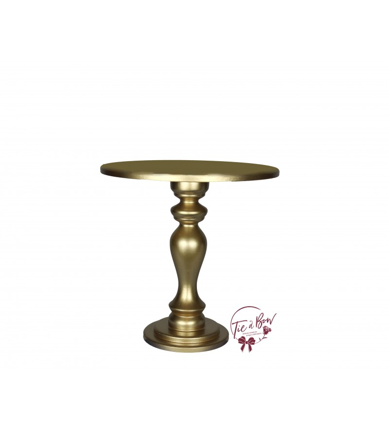 Gold Cake Stand: 10 Inches Wide x 10 Inches Tall