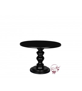 Black Cake Stand: 10 Inches Wide x 7.5 Inches Tall