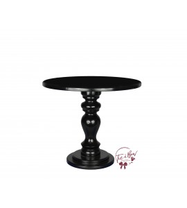 Black Cake Stand: 10 Inches Wide x 8.5 Inches Tall