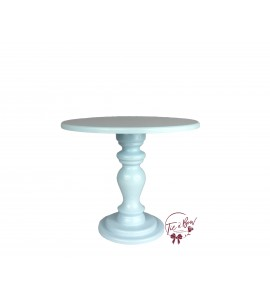 Blue: Light Blue Cake Stand: 10 Inches Wide x 8.75 Inches Tall