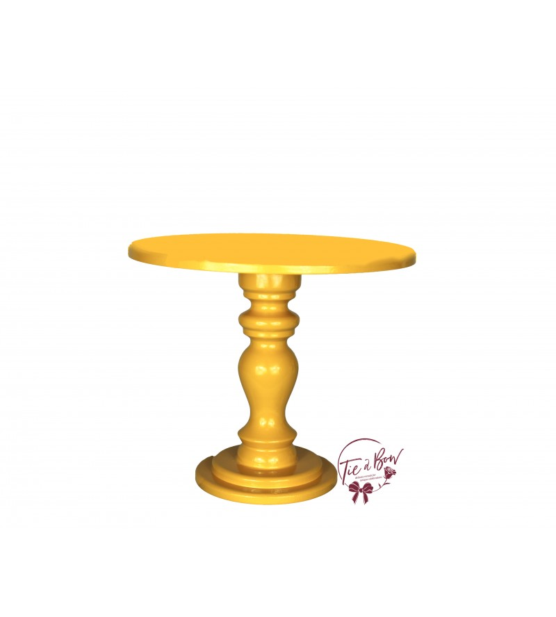 Yellow Cake Stand: 10 Inches Wide x 8.75 Inches Tall