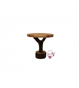 Wood: Tree Trunk Cake Stand: 10 Inches Round x 9 Inches Tall