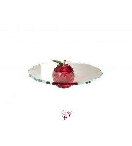 Clear Apple Cake Stand: 10 Inches Wide x 2.5 Inches Tall