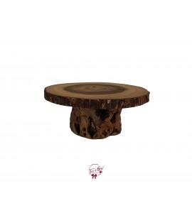 "Wood Stump Cake Stand: W13""x H6"""