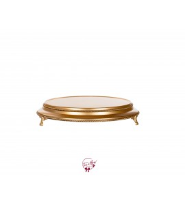 Gold Cake Stand: 16 Inches Wide x 3 Inches Tall