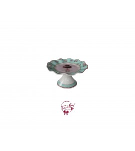Flower Print Cake Stand: 6.25 Inches Wide x 3.15 Inches Tall