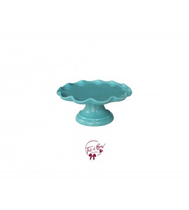 Blue: Turquoise Blue Cake Stand: 6.25 Inches Wide x 3.15 Inches Tall