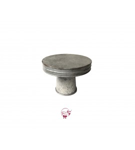 Galvanized Cake Stand: 8 Inches Wide x 6 Inches Tall