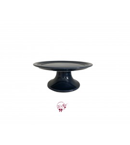 Blue: Petroleum Blue Cake Stand: 8.5 Inches Wide x 3.5 Inches Tall