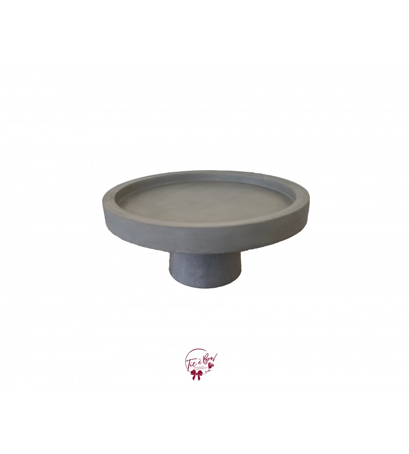 Concrete Cake Stand: 9.75 Inches Wide x 7 Inches Tall