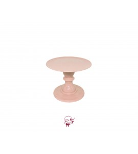Blush Cake Stand: 6.5 Inches Wide x 8 Inches Tall