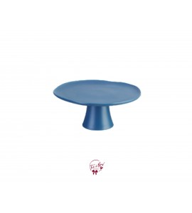 Blue: Denim Blue Cake Stand: 11.25 Inches Wide x  4.5 Inches Tall